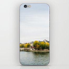 Seine river at Saint Louis island confluence in Paris iPhone Skin