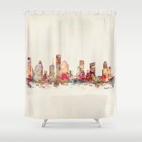 texas Shower Curtains featuring houston texas by bri.buckley