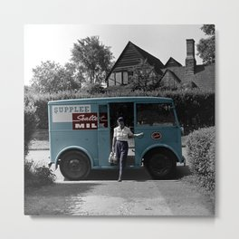 Vintage Sealtest Milk Truck Metal Print