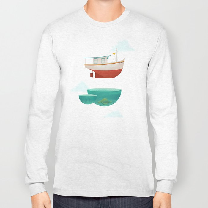 Floating Boat Long Sleeve T-shirt