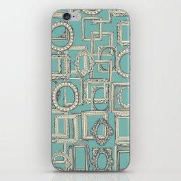 picture frames aplenty indigo duck egg blue iPhone Skin