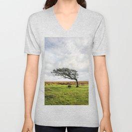 Windswept Tree Unisex V-Neck