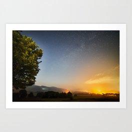 Castleton By Night Art Print