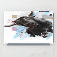 bull iPad Cases featuring bull by e12art
