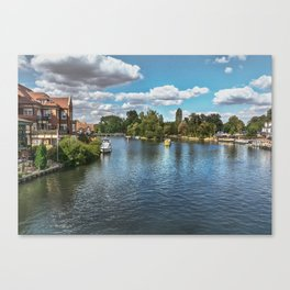 From Windsor Town Bridge Canvas Print