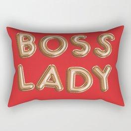 Boss Lady Metallic Font Print Rectangular Pillow