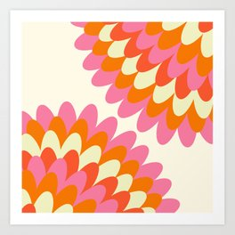 Dahlia at 60's Art Print