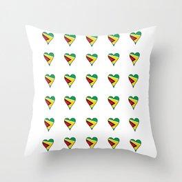Flag of Guyana 2  -Guyanese,Guyanes,Georgetown,Linden,Waiwai Throw Pillow
