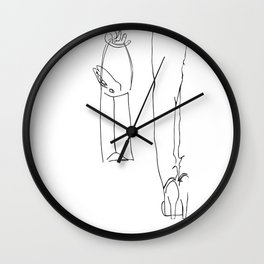 Travel Rabbit Puttin' Small Dogs Out Of Style Wall Clock