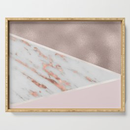 Lilac Lemonade - rose gold marble Serving Tray