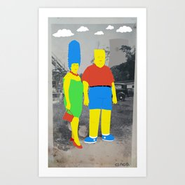 Mommy and Me Art Print