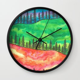 Pine Mountains Wall Clock