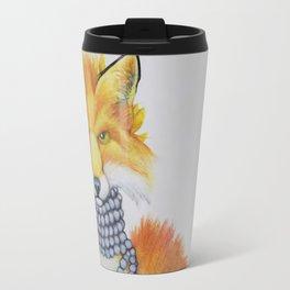 Fox Fur and Pearls Travel Mug