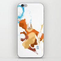 aang iPhone & iPod Skins featuring Avatar Aang minimalist Poster by LoweakGraph