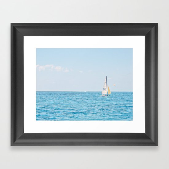 Solo Sailboat Framed Art Print
