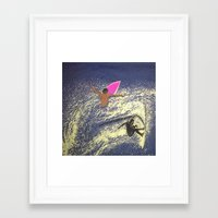surfing Framed Art Prints featuring SURFING by aztosaha
