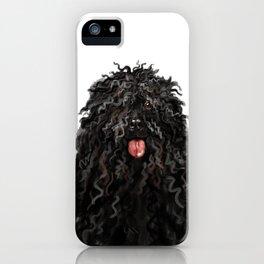 Black Puli Dog iPhone Case