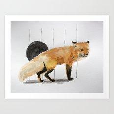 Smiling Fox Art Print