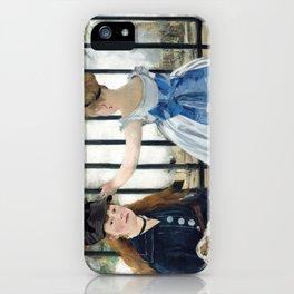 Edouard Manet - Le Chemin de fer (The Railroad) iPhone Case