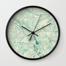 Hanover Map Blue Vintage Wall Clock
