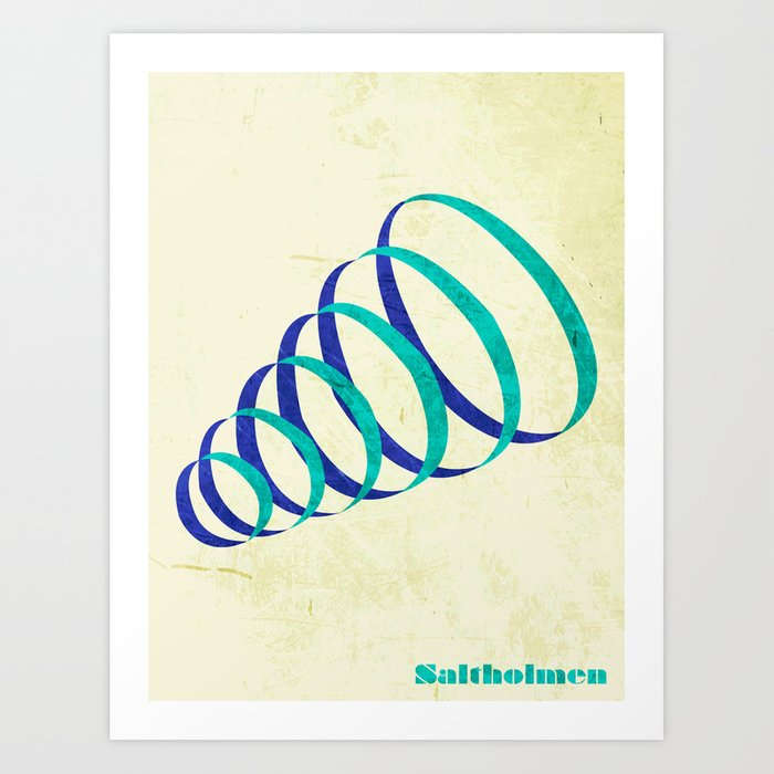 Saltholmen original artwork by Det mekaniska undret Art Print