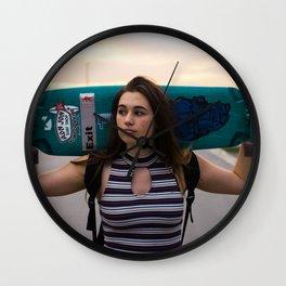 girl skater Wall Clock
