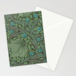 William Morris Art Nouveau Forget Me Not Floral Stationery Cards