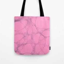 Creamy Strawberry pink yoghurt doodel design Tote Bag