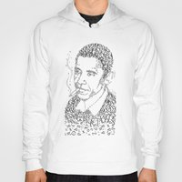 obama Hoodies featuring obama times by Vin Zzep