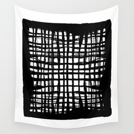 black and white screen Wall Tapestry