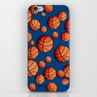 basketball iPhone & iPod Skins featuring Basketball by joanfriends