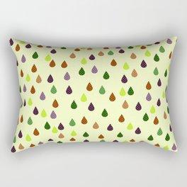Old school art raindrops print, retro style print Rectangular Pillow