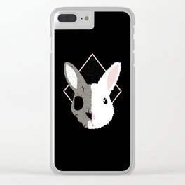 Skull Bunny Clear iPhone Case