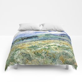 Landscape from Saint-Remy by Vincent van Gogh Comforters