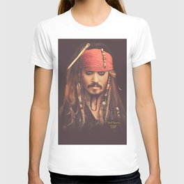 Jack Sparrow Digital Painting T-shirt