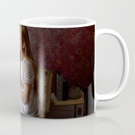 Reading Takes you Places - Book Lover's Fine Art Portrait Coffee Mug