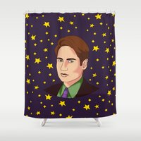 mulder Shower Curtains featuring Mulder Yes by fin apollo