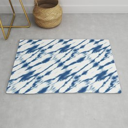 Diagonal Shibori Stripes Rug