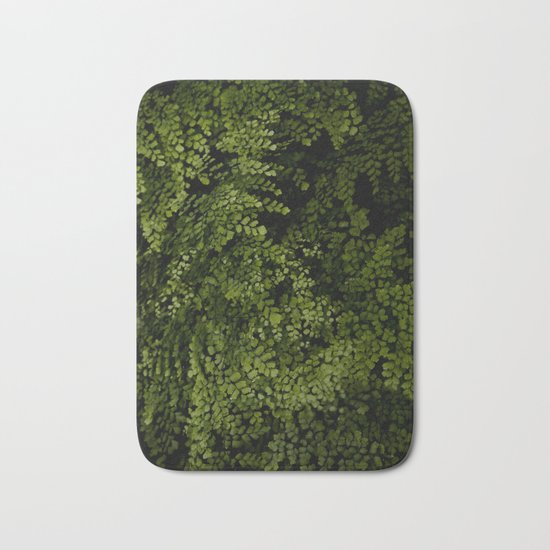 Small leaves Bath Mat