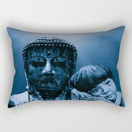 Buddha girl - blue sky Rectangular Pillow