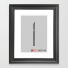 Grey's Anatomy - Minimalist Framed Art Print