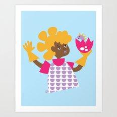 Dinah Deenay - Dino Girl Art Print