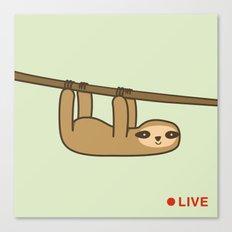 Sloth Cam Canvas Print