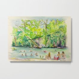 Krause Springs - historic Texas natural springs swimming hole Metal Print