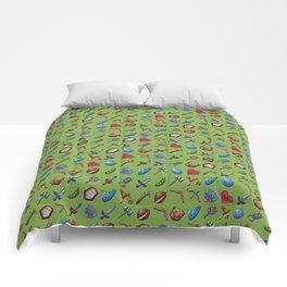 A Hero's Arsenal (Pantone-Greenery) Comforters