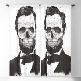 Dead Lincoln (b&w) Blackout Curtain