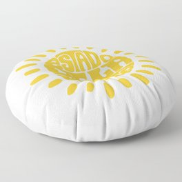 State of mind Rich yellow Floor Pillow