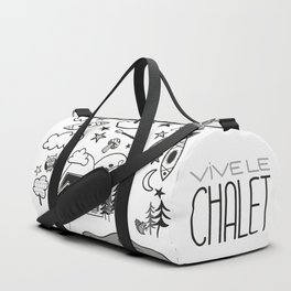 Vive le chalet - Life at the cottage Duffle Bag