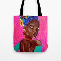 african Tote Bags featuring African by Ksuhappy