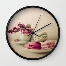 Lilac and Macaroons Wall Clock